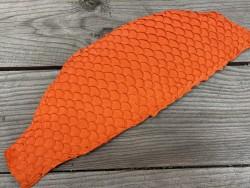 Peau de cuir de poisson tilapia orange mat bijoux accessoire Cuir en stock