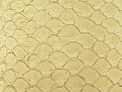 Détail écailles cuir de poisson tilapia beige glossy maroquinerie bijoux Cuir en stock
