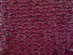 Détail écailles cuir de poisson véritable tilapia cuir en stock