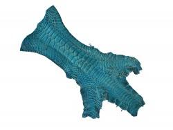 Peau cuir patte de coq poulet bleu turquoise bijoux accessoire bracelet montre luxe Cuir en Stock