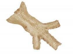 Peau cuir patte de coq beige luxe exotique bijoux accessoire bracelet montre Cuir en Stock