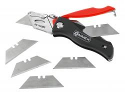 Cutter et 5 lames de rechange Connex - Outil de coupe du cuir - Cuirenstock