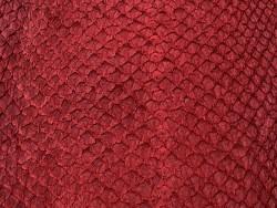 Détail écailles peau cuir poisson saumon rouge bordeaux mat Cuir en Stock