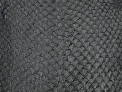 Détail écailles peau cuir poisson saumon noir mat Cuir en Stock