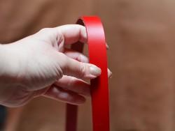 Bande lanière de cuir double croupon rouge - Travail du cuir - Cuirenstock