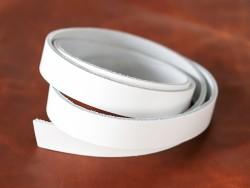 Bande de cuir blanc - Découpe sur mesure - Cuirenstock