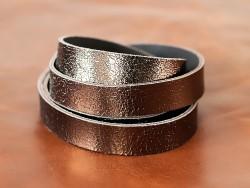 Bande de cuir bronze métallisé craquelé - Cuir en Stock