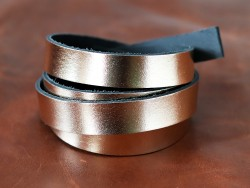 Bande de cuir gold - Cuir en Stock