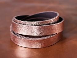 Bande cuir cuivre craquelé - Cuir en Stock