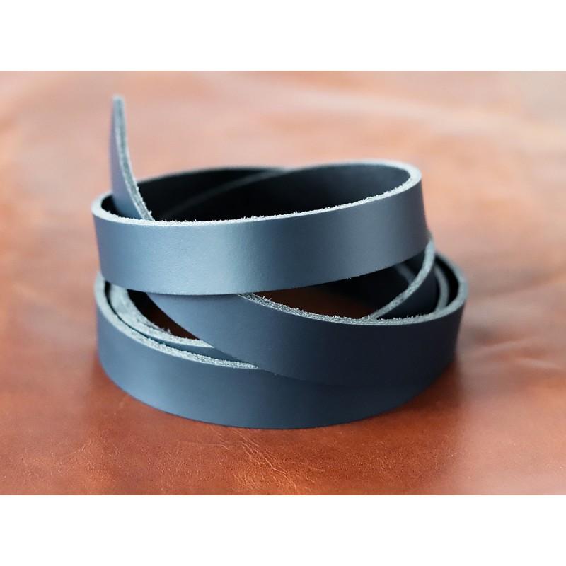 Bande de cuir bleu marine - Croupon - Cuir en Stock