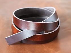 Bande de cuir Pullup Marron - Cuir en Stock