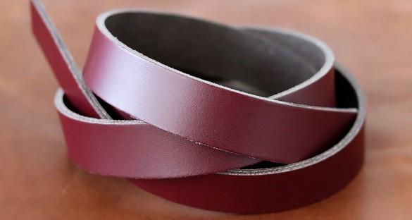 Bande de cuir bordeaux - Cuirenstock
