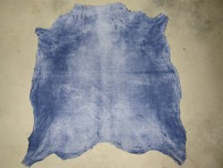 Chèvre velours bleu jean