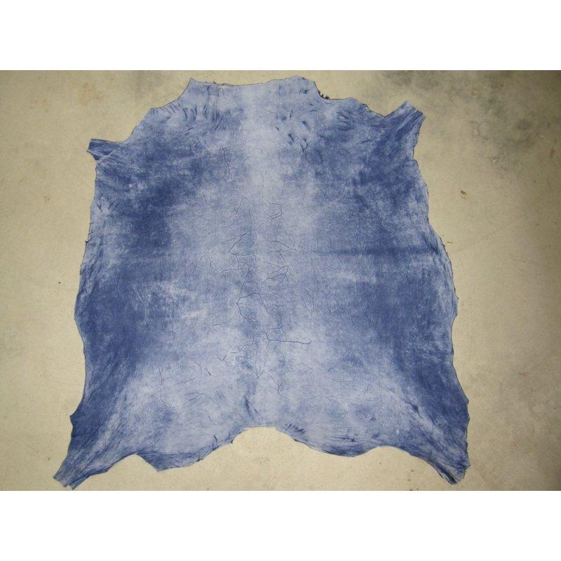 peau de chèvre velours bleu jean cuirenstock