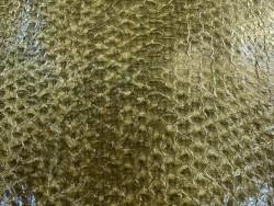 Détail écailles - cuir de poisson - Perche du Nil - Vert kaki - Cuir en Stock