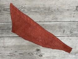 Envers peau de cuir de poisson - Perche du Nil - Terracotta - bijoux - maroquinerie - Exotique - cuir en stock