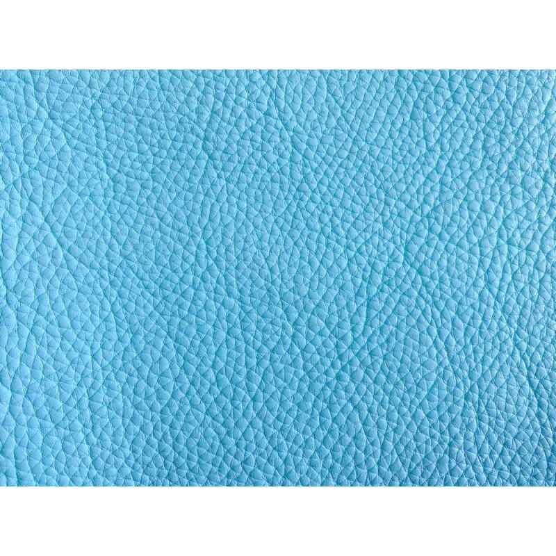 Cuir de taurillon grain togo bleu clair maroquinerie de luxe Cuir en Stock