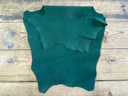 Endroit envers peau de cuir de requin vert - exotique - luxe cuir en stock