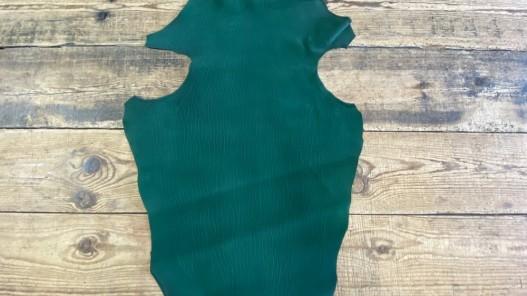 Peau cuir poisson exotique - requin - vert - Cuir en stock