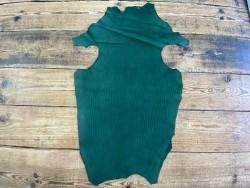 Peau de cuir de requin poisson vert émeraude - luxe - exotique - bijou - maroquinerie - gainage - Cuir en stock