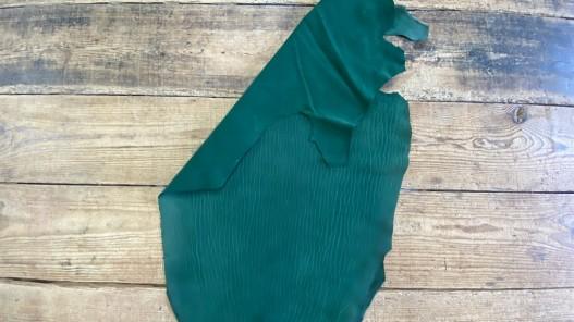 Peau de cuir de requin poisson vert émeraude - luxe - exotique - bijou - maroquinerie - gainage - Cuirenstock