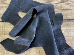 Souplesse peau de cuir de poisson requin nubuck brun - luxe - exotique - cuir en stock