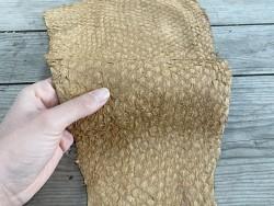 Détail peau - cuir de poisson - Perche du Nil - beige sable - bijoux - maroquinerie - Cuir en stock