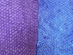 Détail écailles - cuir de poisson - peaux exotique - vente en lot - Violet rose - Cuir en Stock