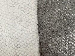 Détail écailles - cuir de poisson - Perche du Nil - lot de peaux - gris - Cuir en Stock