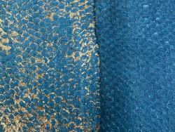 Détail écailles - cuir de poisson - Perche du Nil - camaïeu de bleu - Cuir en Stock