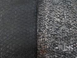 Détail écailles - peaux de poisson - cuir exotique - Perche du Nil - Noir - Lot - Cuir en Stock