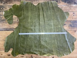 Peau de cuir de porc classique - maroquinerie - vert olive - Cuir en Stock