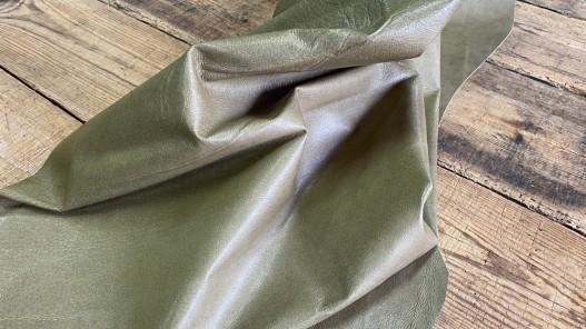 Souplesse tannage peau de cuir de porc - vert kaki - maroquinerie - classique - cuirenstock
