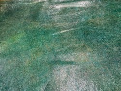 Cuir de mouton - tannage végétal - vert nuancé - maroquinerie - Cuirenstock