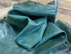 Souplesse peau de cuir de mouton - tannage végétal - vert nuancé - maroquinerie - cuirenstock