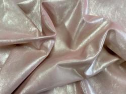 Peau pailleté métallisé rose - mouton métis - maroquinerie - vêtement - Cuir en stock