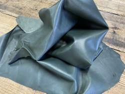 Souplesse peau de cuir de mouton nappa métiss vert kaki - vêtement maroquinerie - Cuirenstock