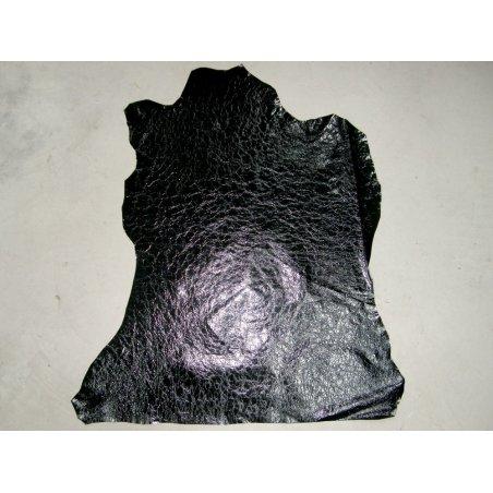 Agneau vernis noir froissé