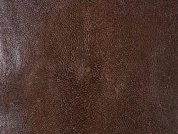 Détail peau de galuchat - perle centrale - grain poncé - marron - Cuir en Stock