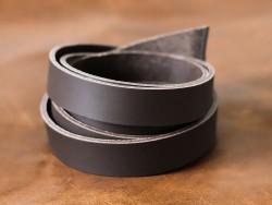 Bande de cuir double croupon marron mat - Cuir en Stock