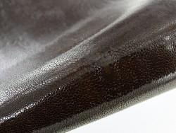 Peau cuir Galuchat marron - Grain poli - Cuir en Stock