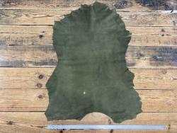 Peau de chèvre velours vert kaki - maroquinerie - vêtement - Cuir en Stock