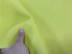 Cuir de vachette jaune - maroquinerie - ameublement - cuir en stock