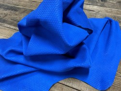 Souplesse peau de cuir de veau grain façon serpent bleu cyan - maroquinerie - cuirenstock