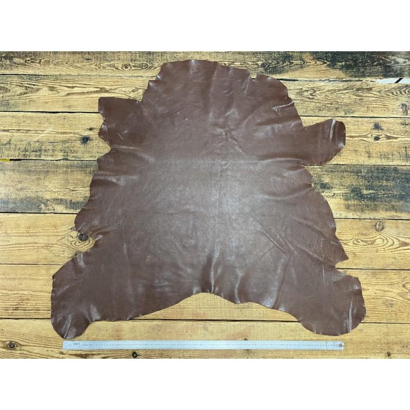 Peau de cuir de buffle marron - maroquinerie - Cuir en Stock