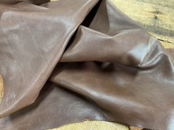 Souplesse peau de cuir de buffle marron - maroquinerie - Cuirenstock