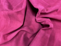 Souplesse peau de veau velours framboise - maroquinerie - ameublement - Cuirenstock