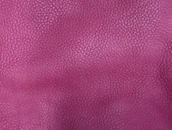 Cuir de taurillon grain togo - couleur framboise - maroquinerie - Cuir en stock