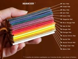 Teinture de tranche base aqueuse pour cuir - Fabrication française - Blanc Mat - Cuirenstock