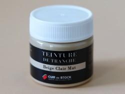 Teinture de tranche pour cuir - Beige clair Mat - Cuir en Stock
